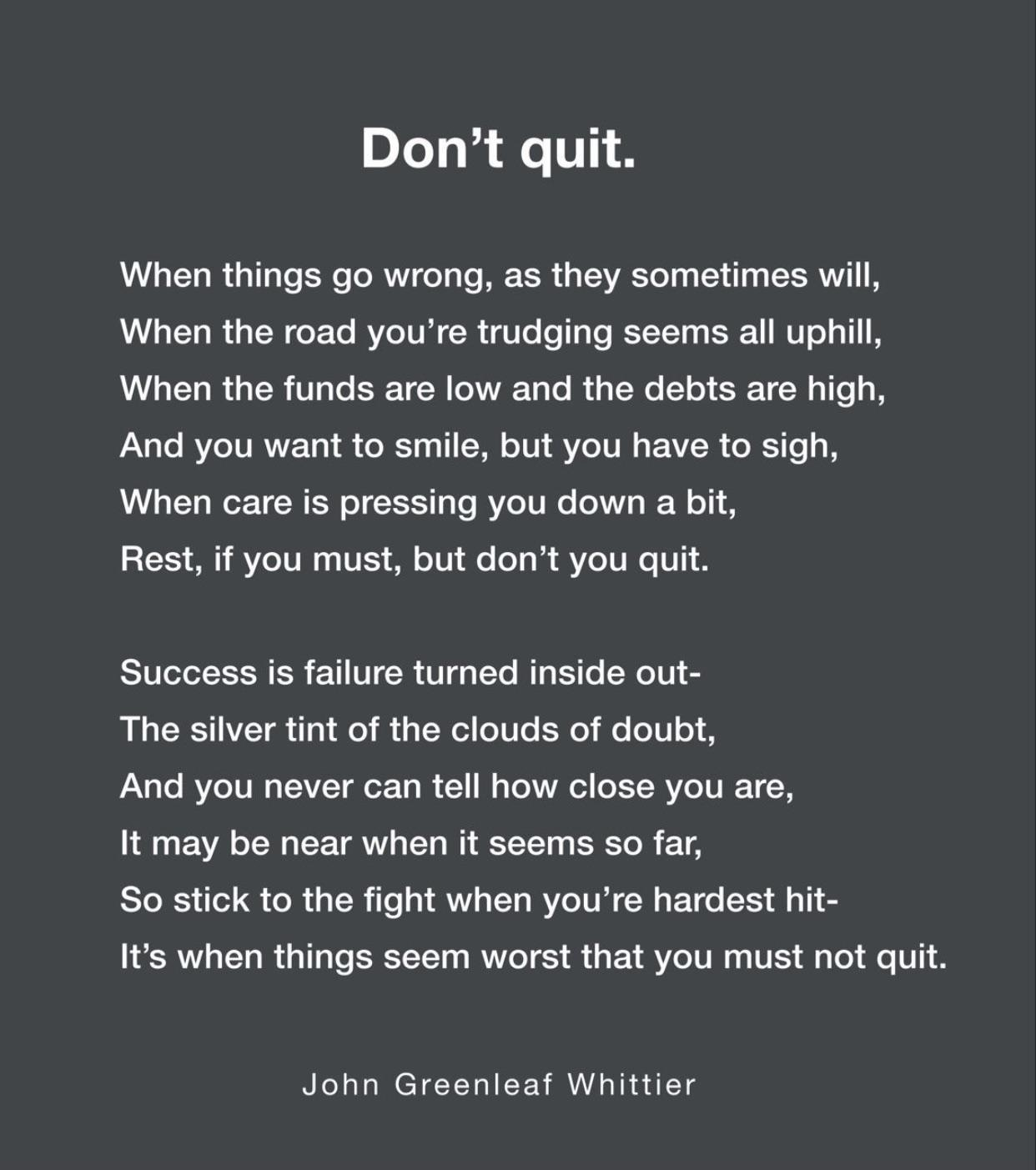 [Image] Learn to rest, not quit