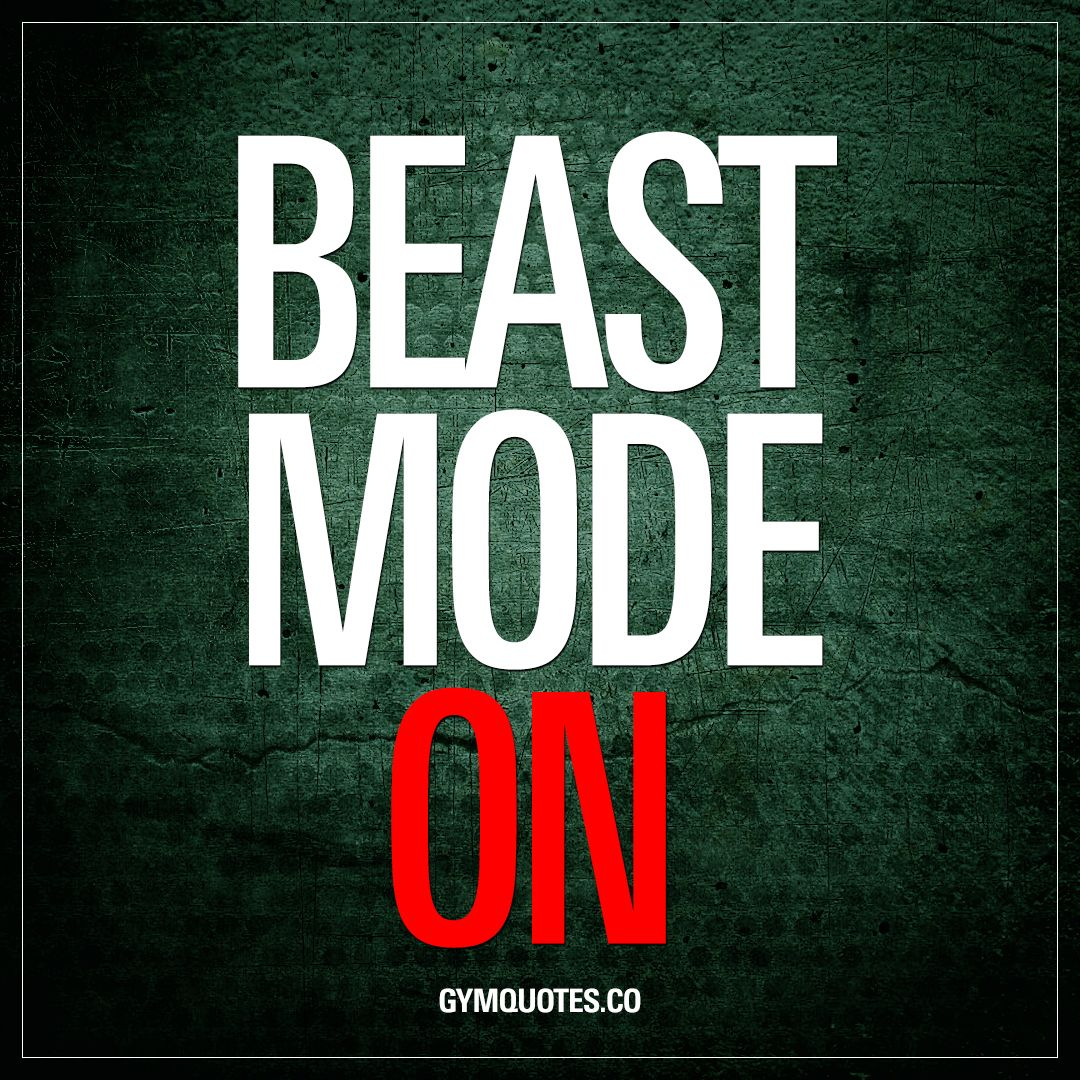 I'm in the mood to workout and sweat like a female beast today [Image]