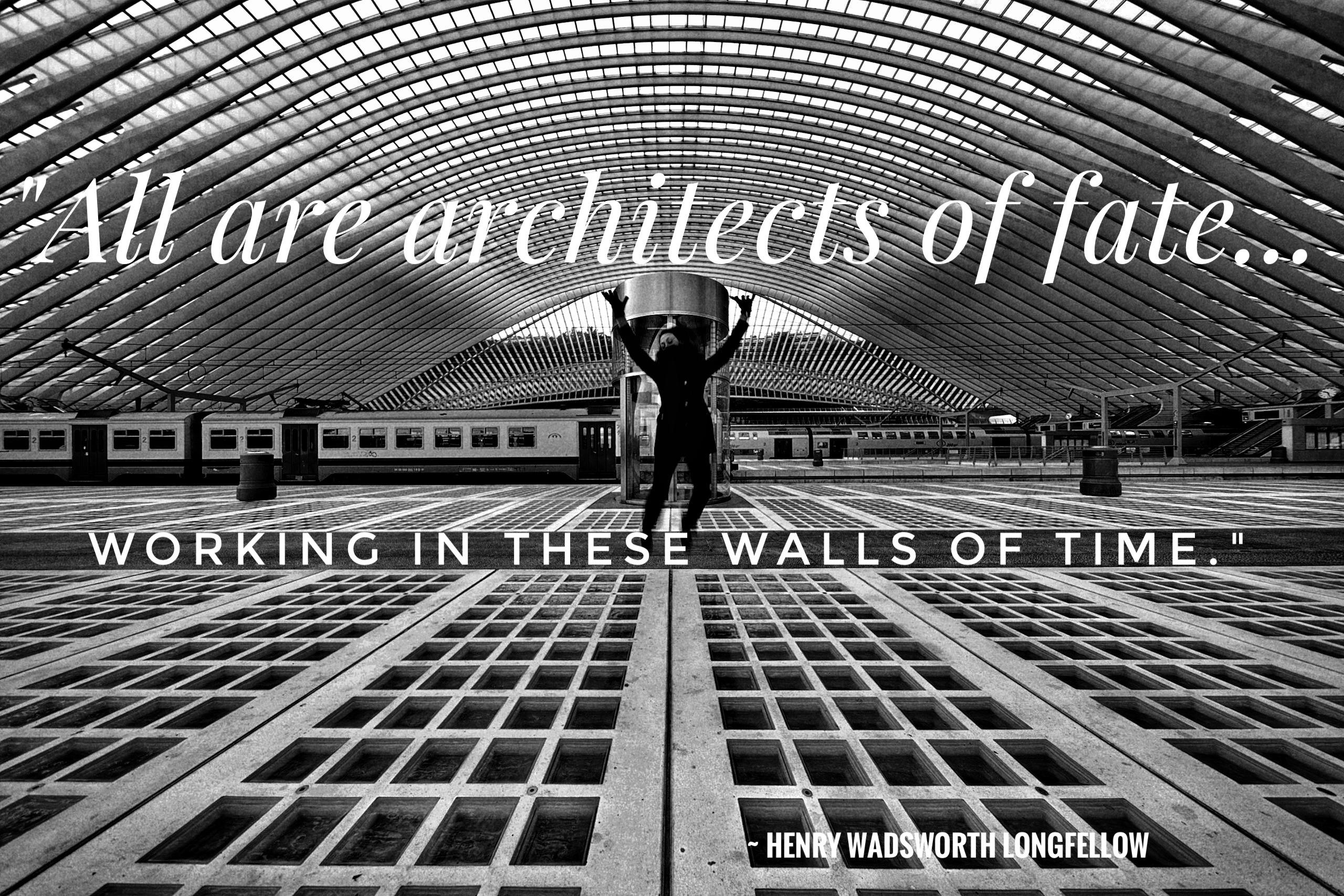 """All are architects of fate… working in these walls of time."" ~ Henry Wadsworth Longfellow [2560×1707][OC]"