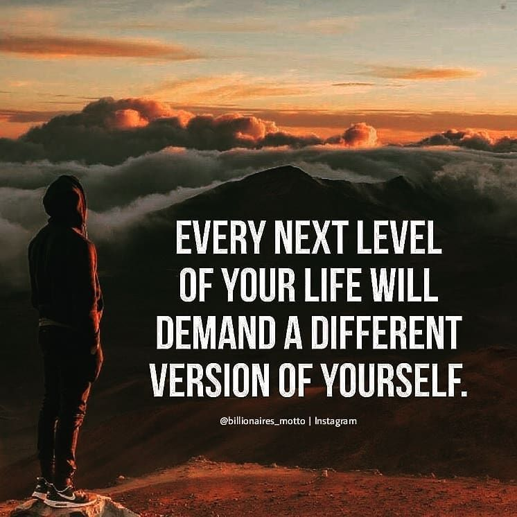 [Image] I feel like the more I better myself it's like I unlock a new level with new objectives.
