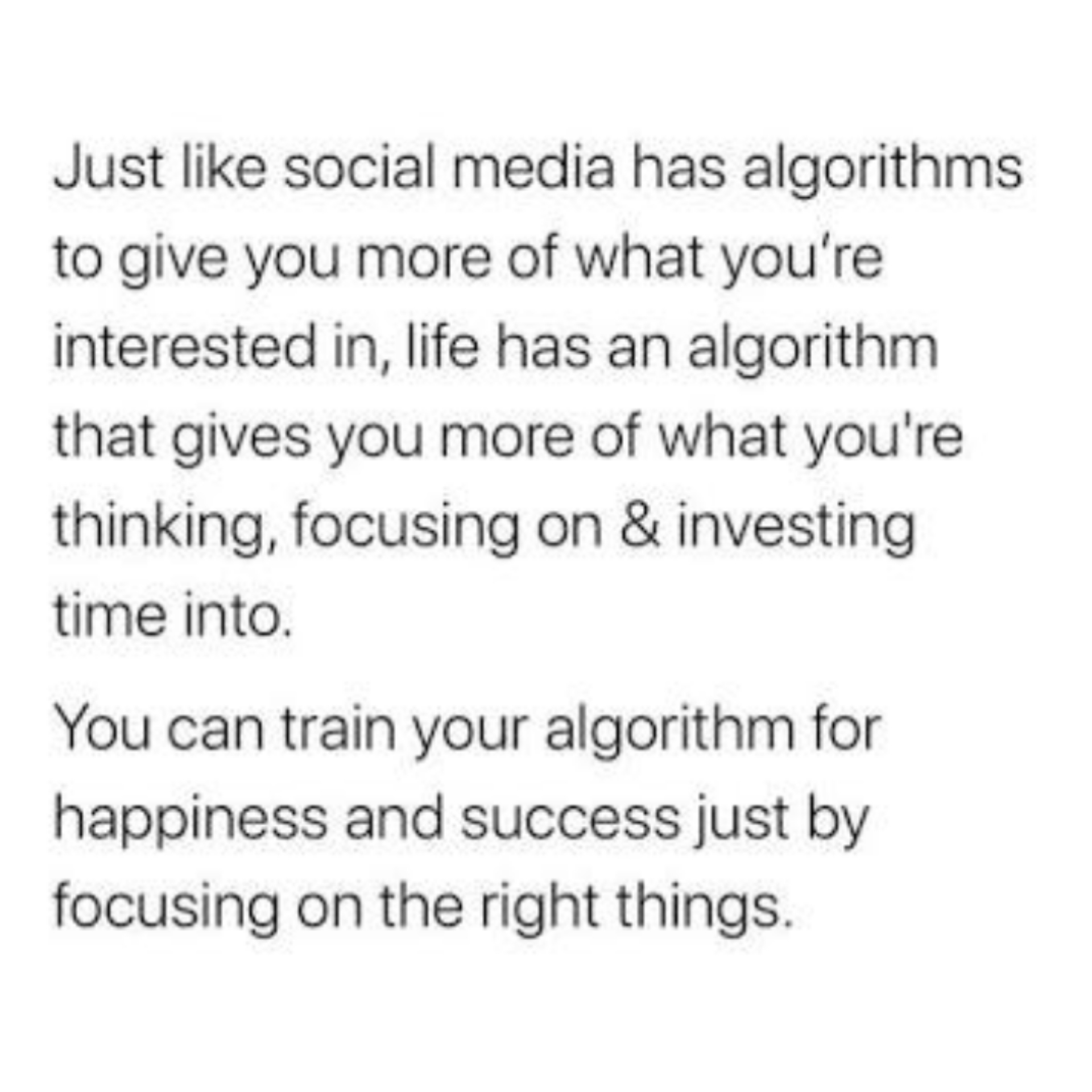 [Image] Your algorithm