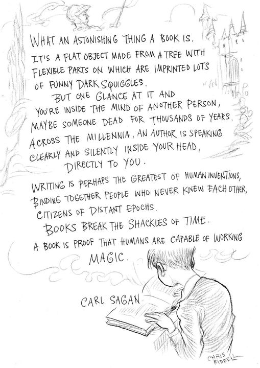 An author is speaking clearly and silently [509×720] (Carl Sagan)