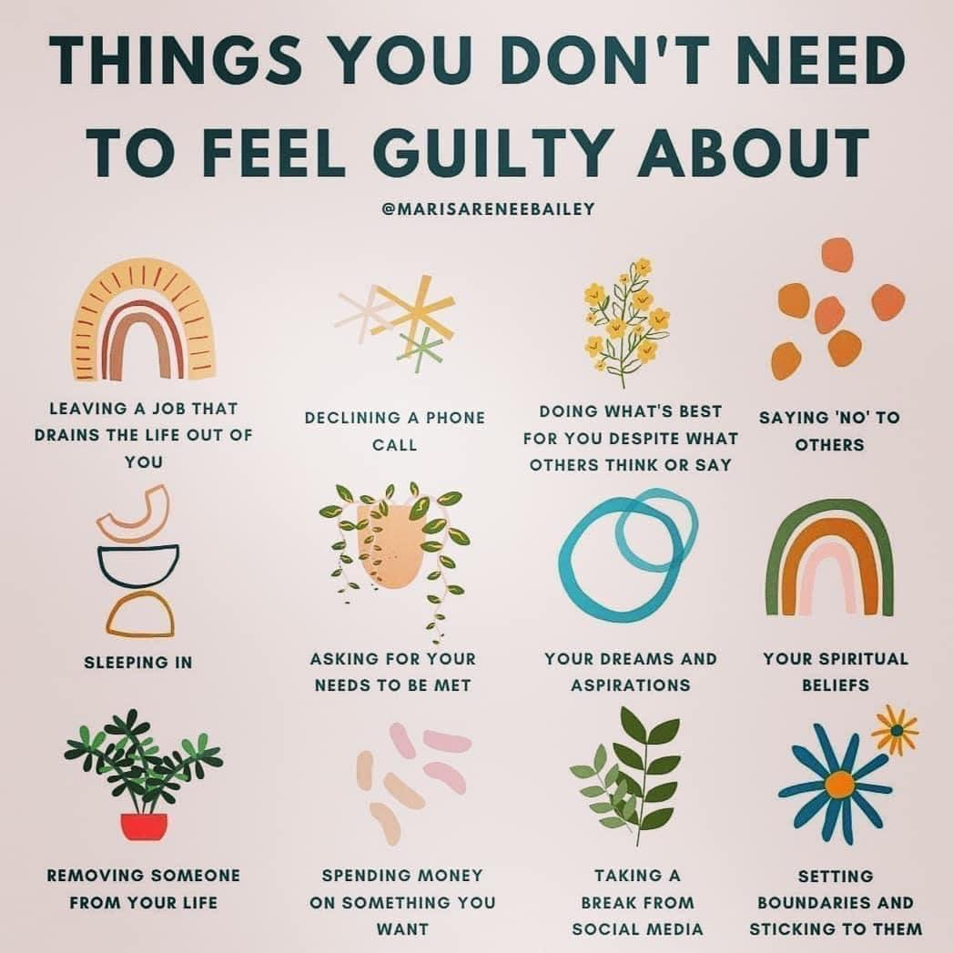 [image] Never feel guilty for taking care of yourself