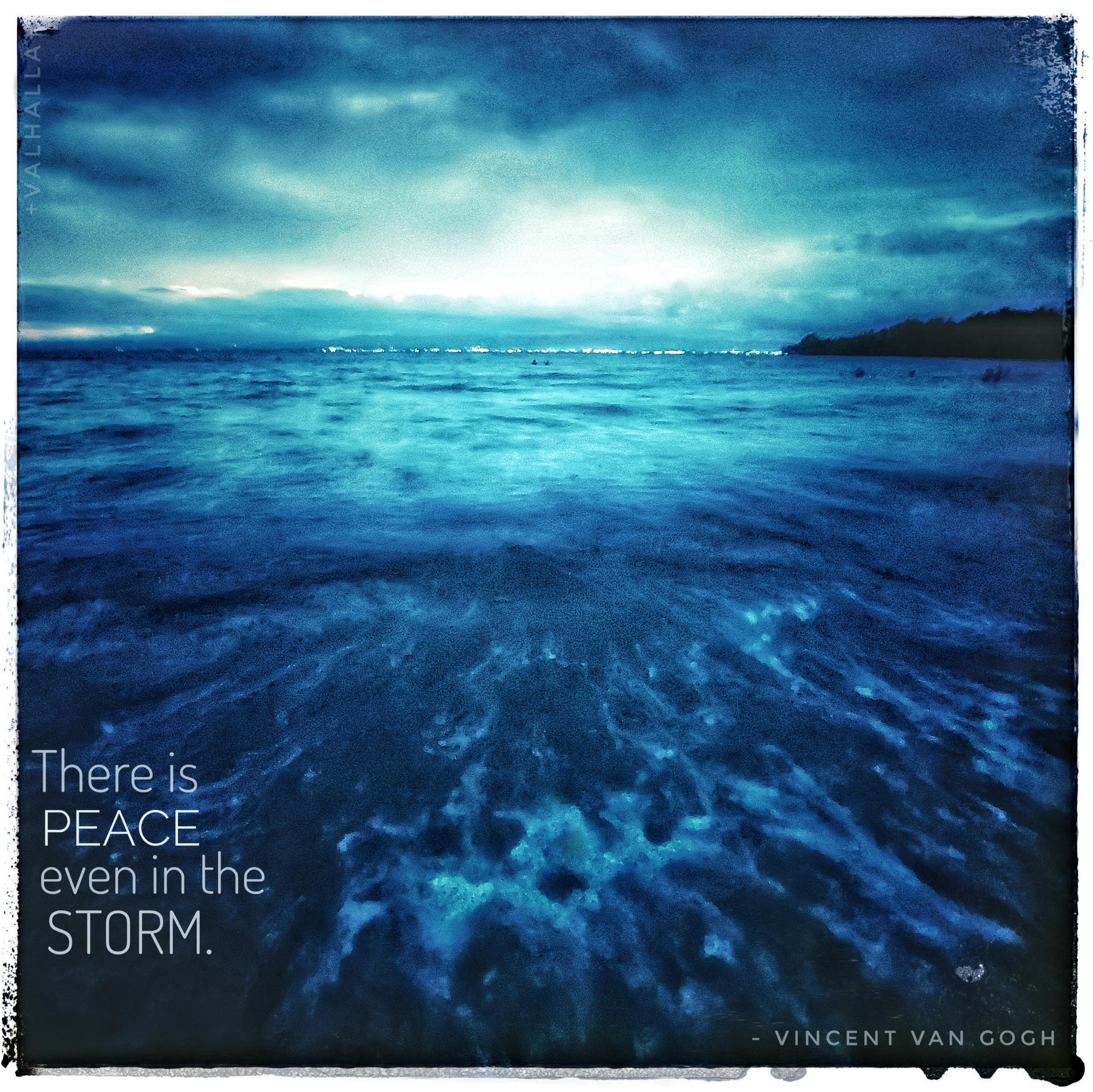 """There is peace even in the storm"" -Vincent van Gogh [2402×2398]"
