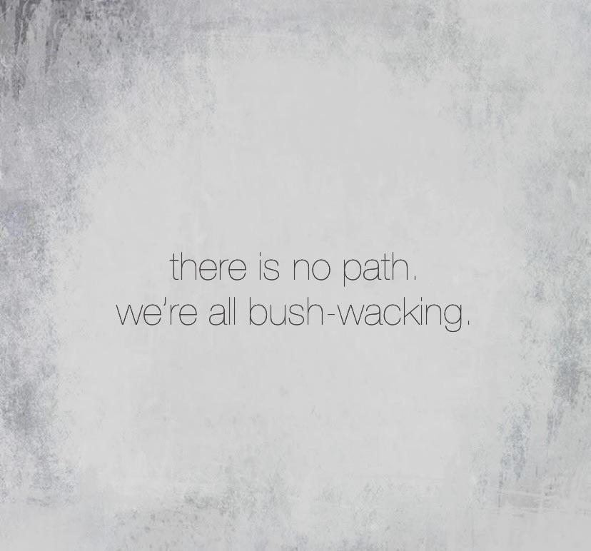 """There is no path. We're all just bush-wacking."" [828×772]"