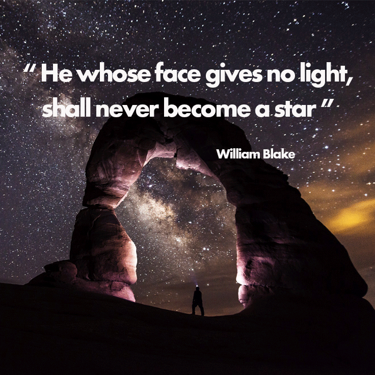 """He whose face gives no light,"" —William Blake [736×736]"