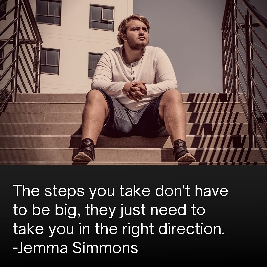 [Image] Small wins lead to bigger impacts… Take the step.. Move