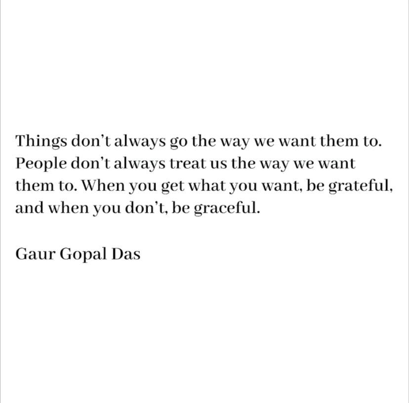[image] When you win, be grateful. When you don't, be graceful.