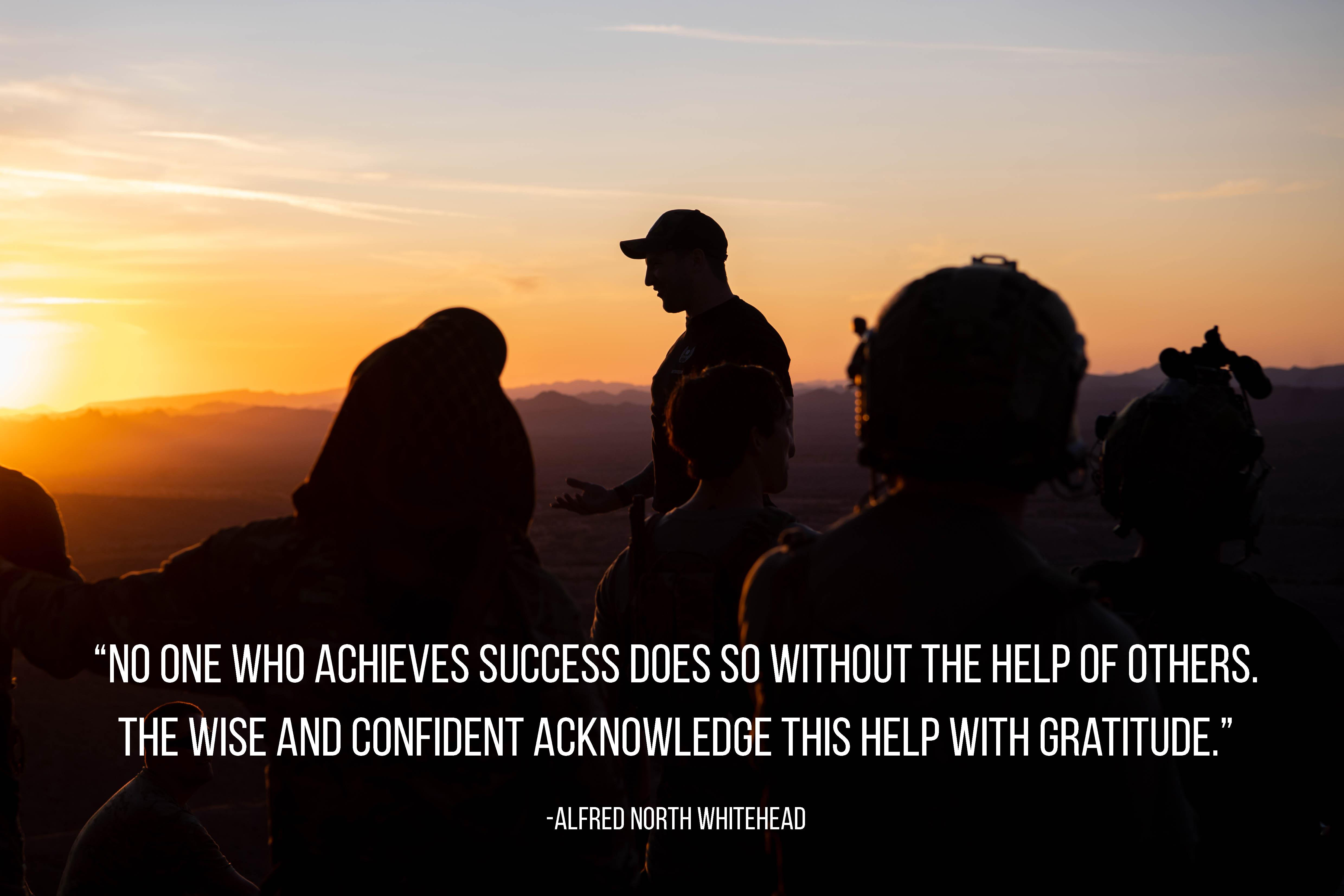 """No one who achieves success does so without the help of others….."" -Alfred North Whitehead [4957×3305]"
