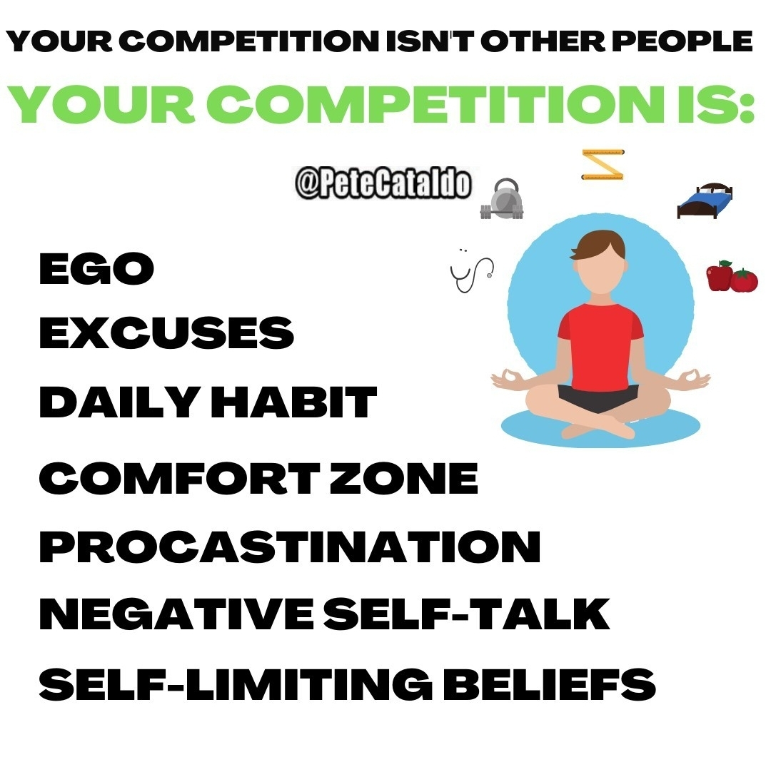 [Image] Your biggest competitor is yourself!