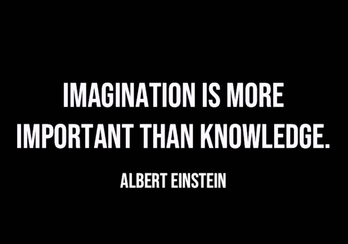 [Image] Imagination is more important than knowledge