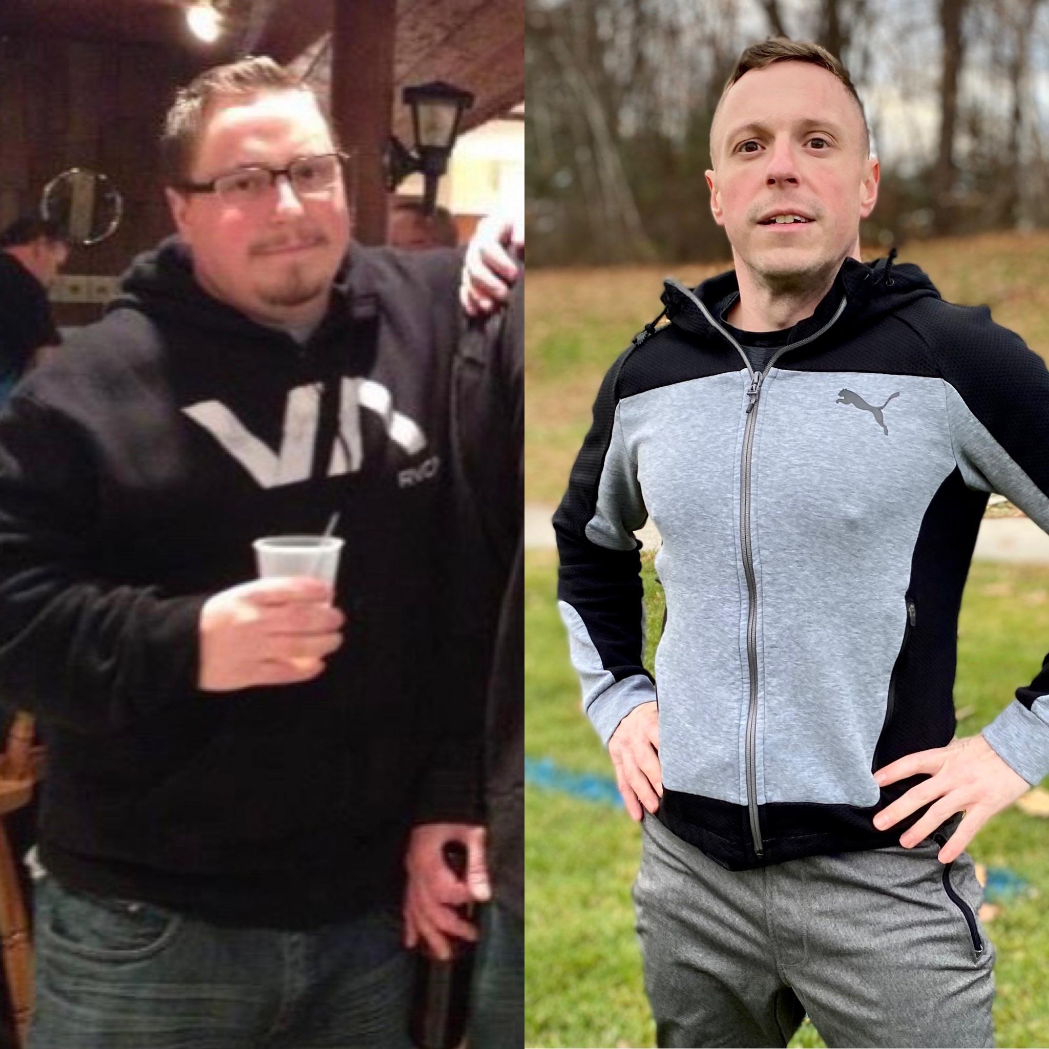 [image] I was very depressed and unhealthy in my 20s. I made some big lifestyle changes when I entered my 30s including quitting drinking and smoking. Fitness and a healthy lifestyle has given me a new outlook on life.