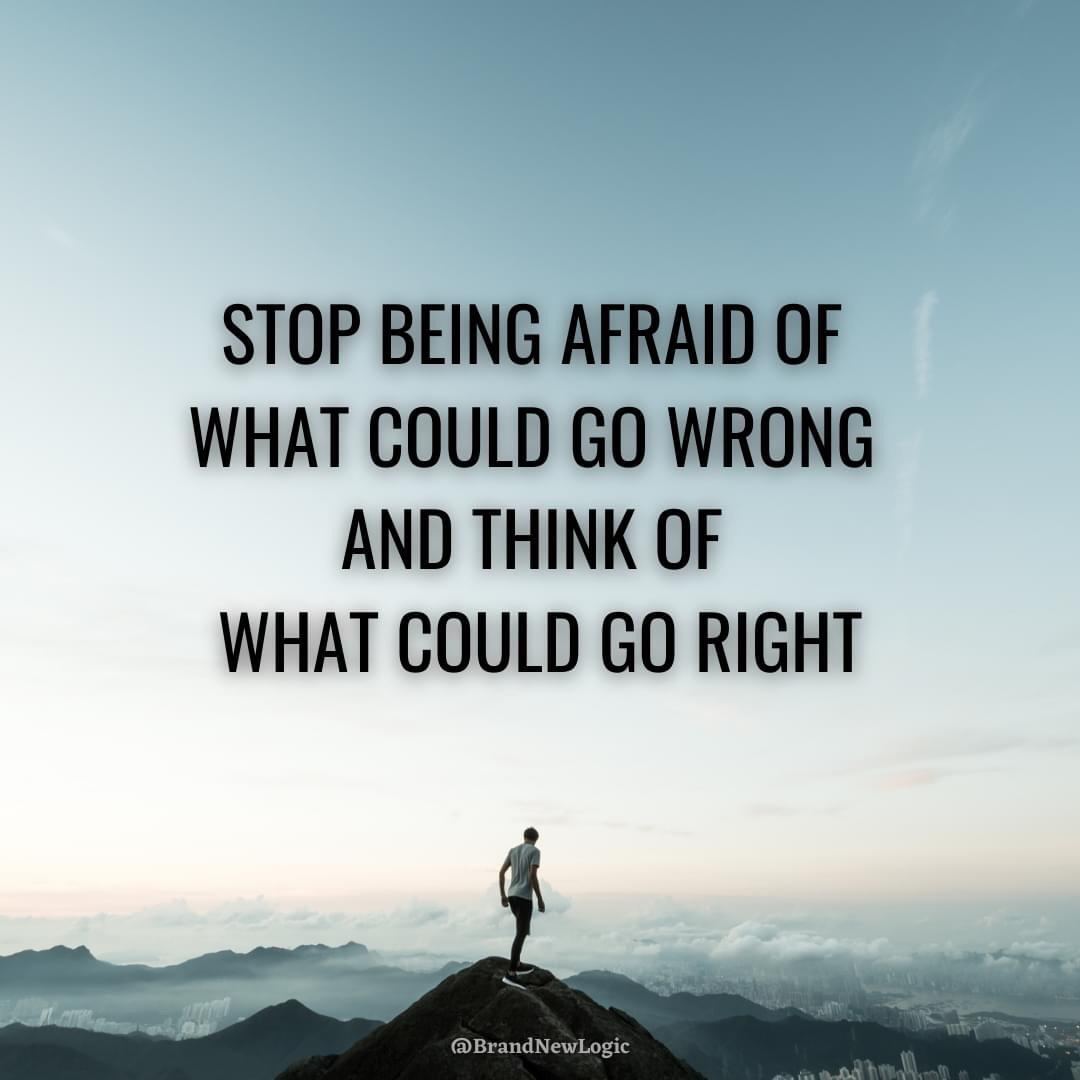 """Stop being afraid of what could go wrong and think of what could go right"" – Tony Robbins [1080×1080]"
