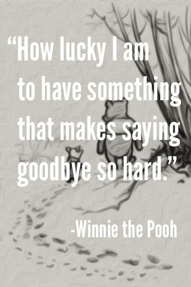 [IMAGE] – HOW LUCKY I AM TO HAVE SOMETHING THAT MAKES SAYING GOODBYE SO HARD