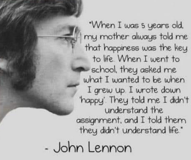 Happiness was the key to life – John Lennon (393×330)