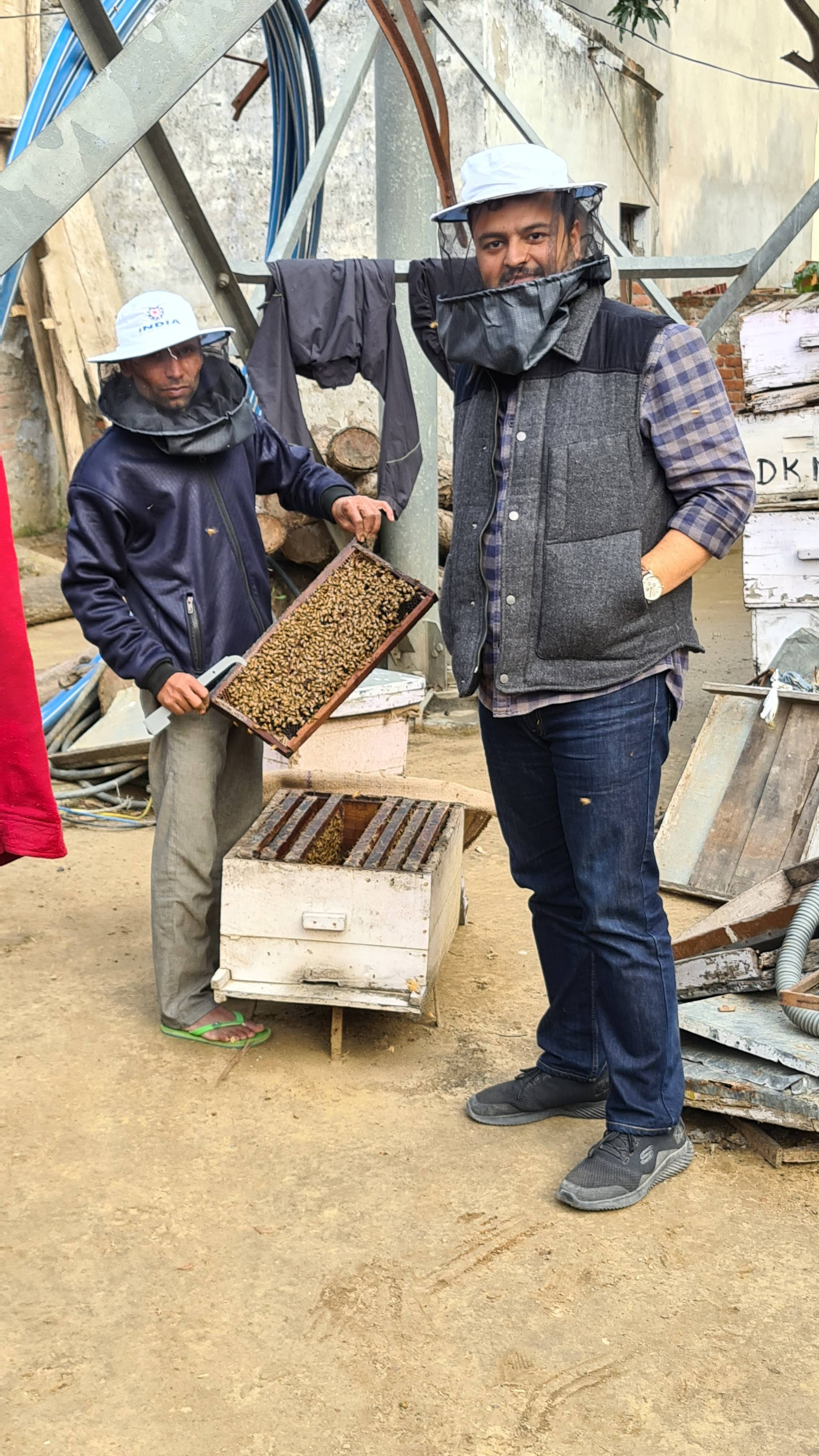 [Image] I train farmers to farm naturally/organically. I always wanted to add being an Apiarist as my skillset so from today I am.doing it.