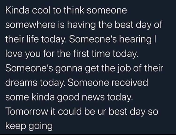 [Image] be the next someone today