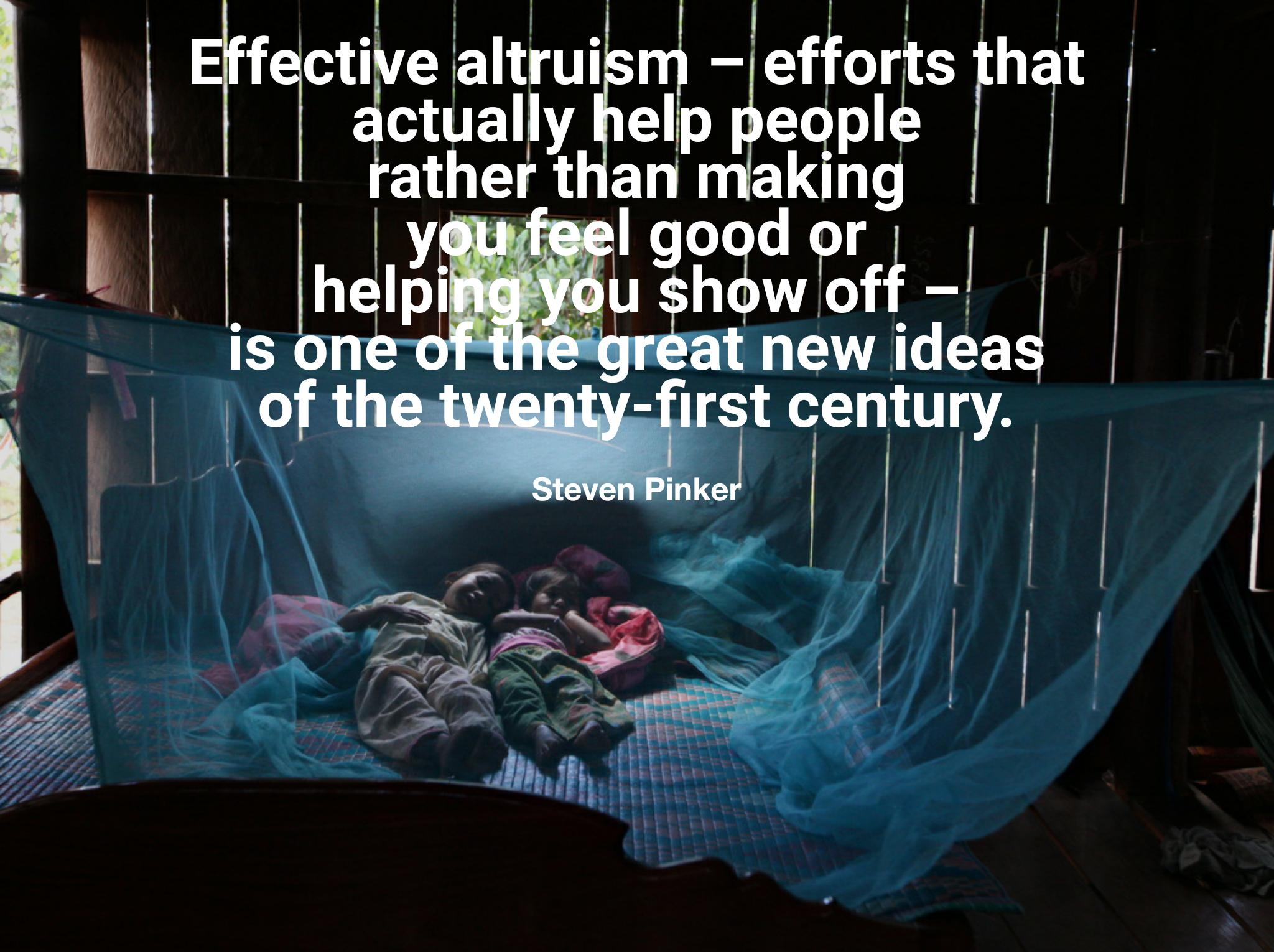 """Effective altruism — efforts that actually help people rather than making you feel good or helping you show off — is one of the great new ideas of the twenty-first century."" -Steven Pinker [2048×1530][OC]"
