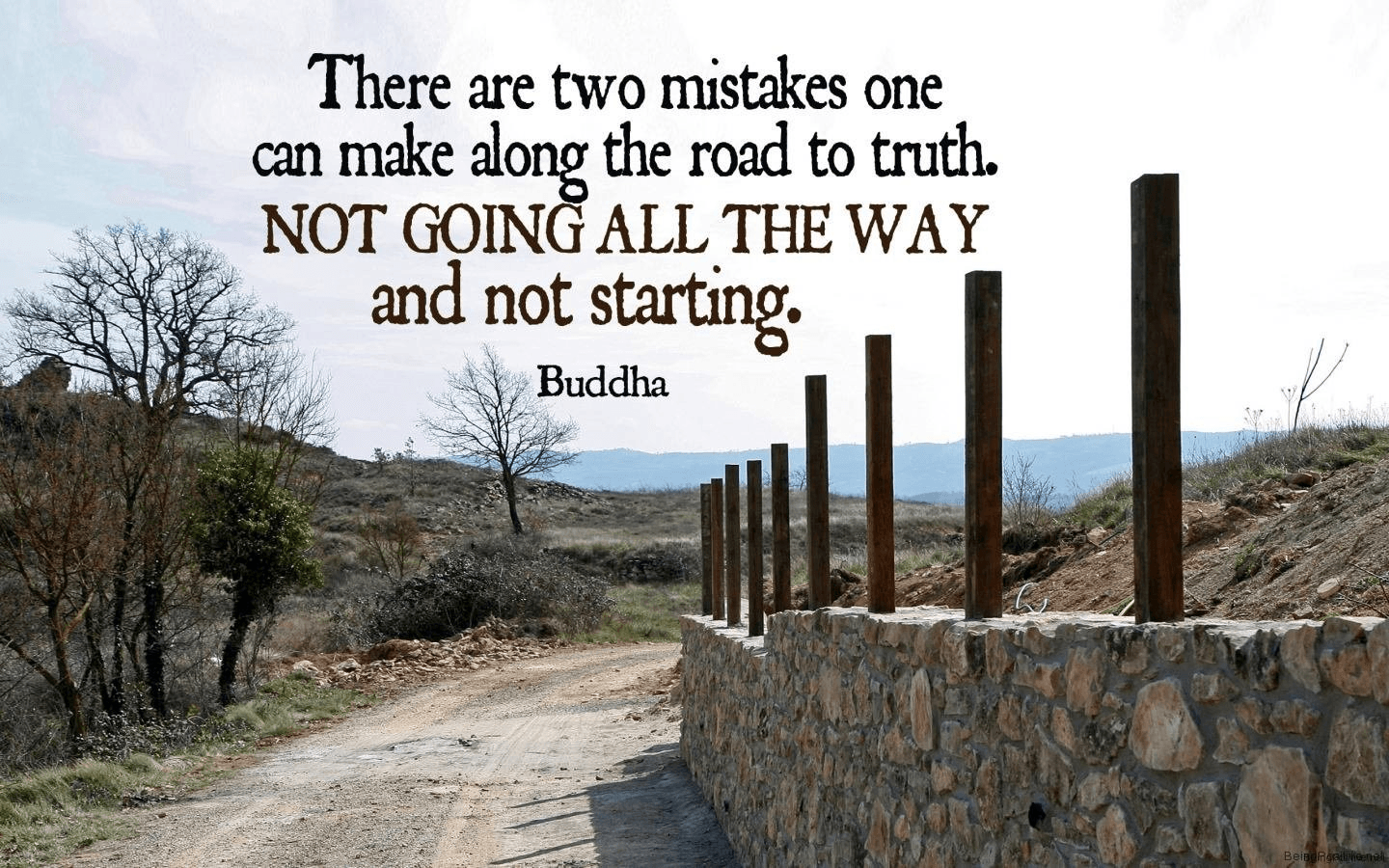 """There are two mistakes one can make along the road to truth. NOT GOING ALL THE WAY and not starting."" – Buddha [1440 x 900]"
