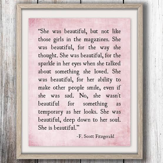 """She was beautiful, but not like those girls in the magazines…."" – F. Scott Fitzgerald [554×554]"