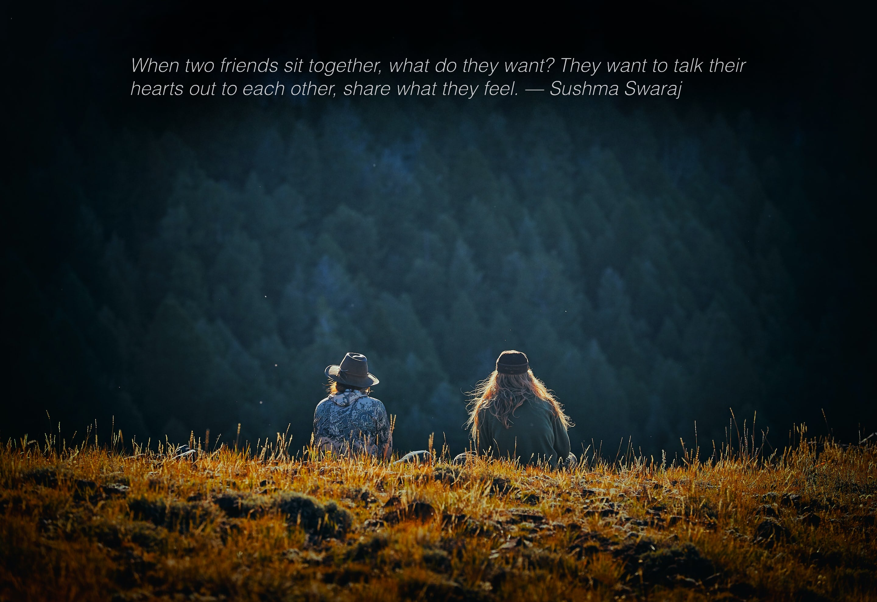When two friends sit together, what do they want? – Sushma Swaraj [2880 × 1978] [OC]