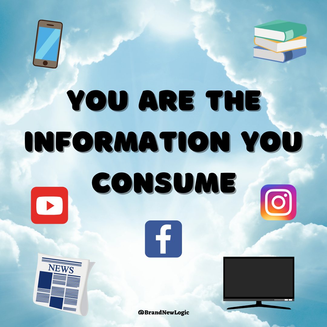 """You are the information you consume"" – BrandNewLogic [1080×1080]"