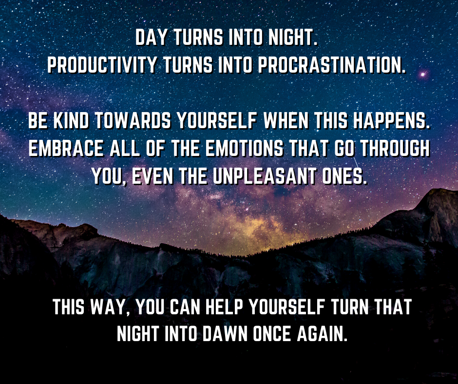 [Image] Turn the night into dawn.