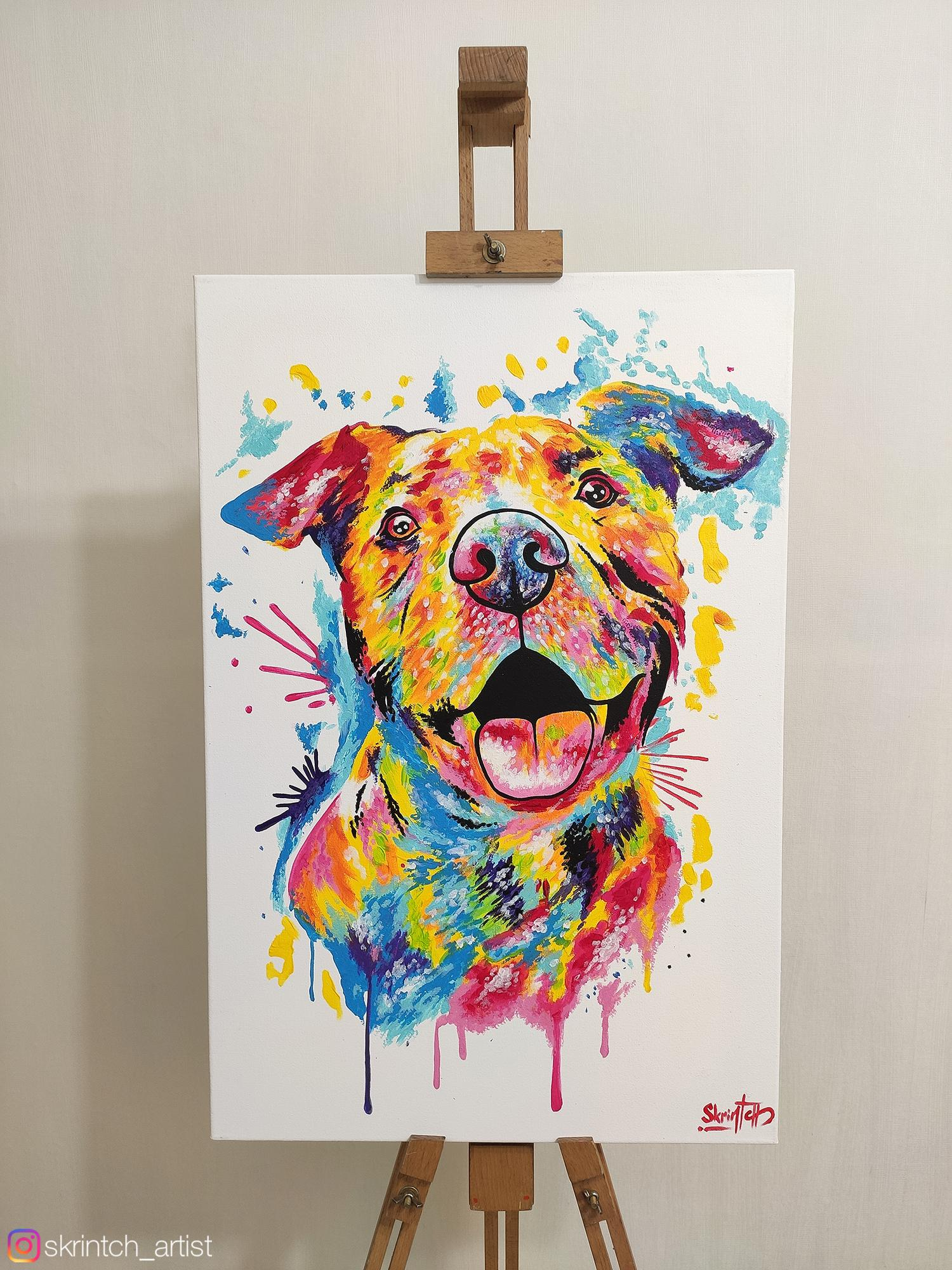 [Image] I try to show on paintings how much dogs love their owners ( @skrintch_artist )