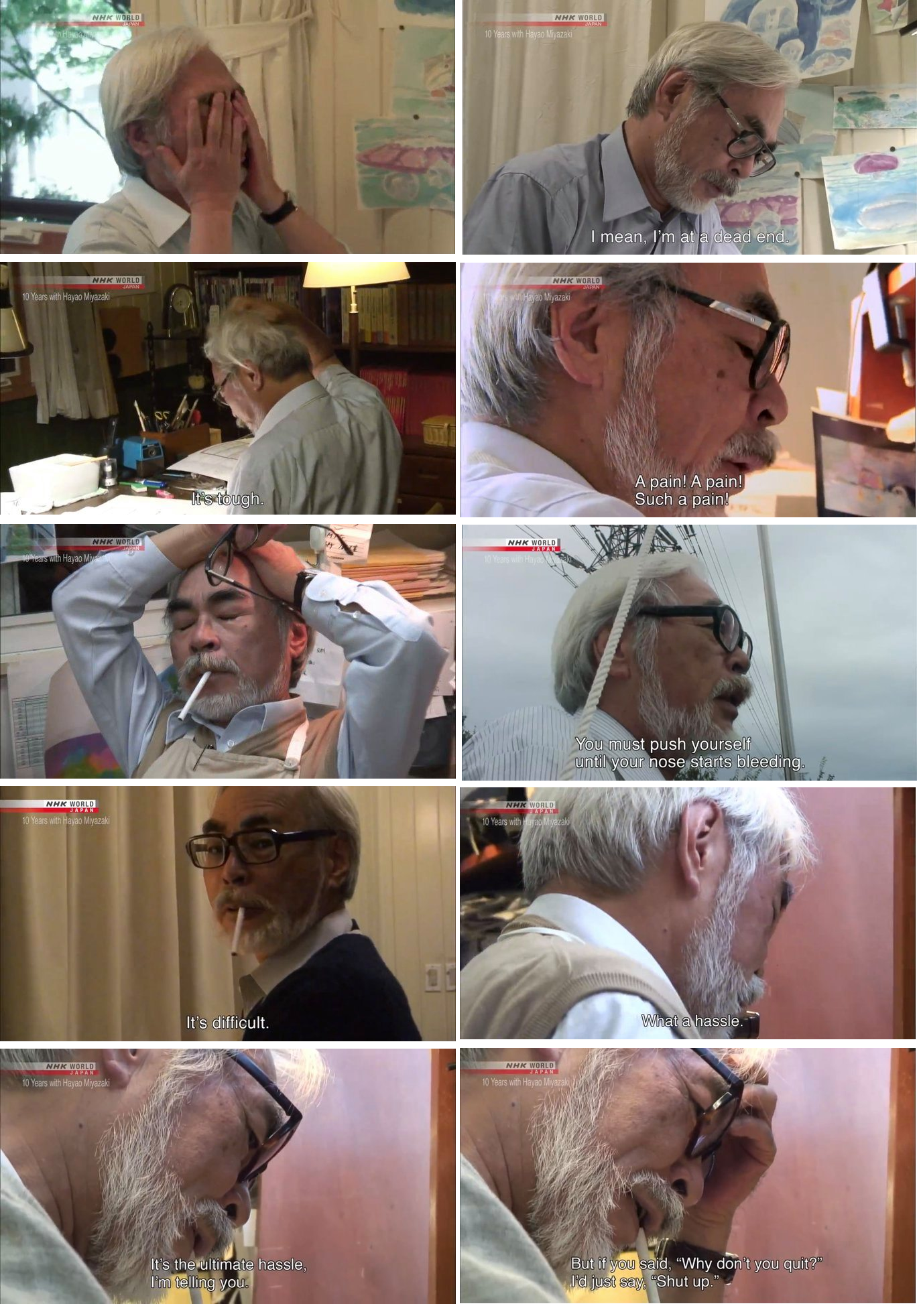 [Image] From Hayao Miyazaki one of the best animators in the world.
