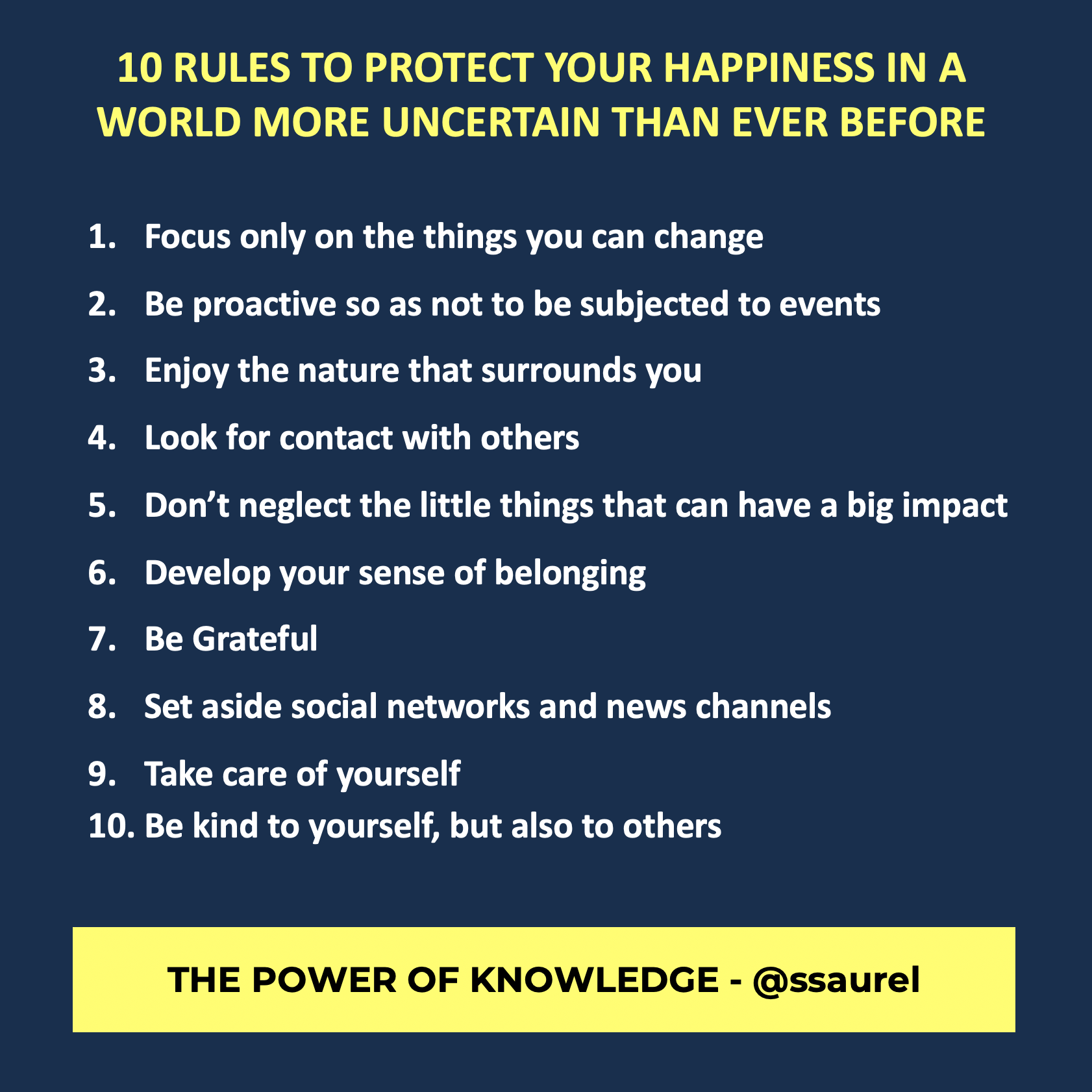 [Image] 10 Rules To Protect Your Happiness in a World More Uncertain Than Ever Before