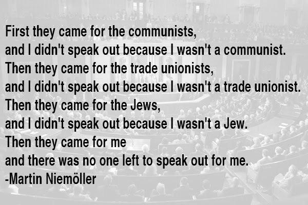 """First they came…"" -Martin Neimöller [600×400]"