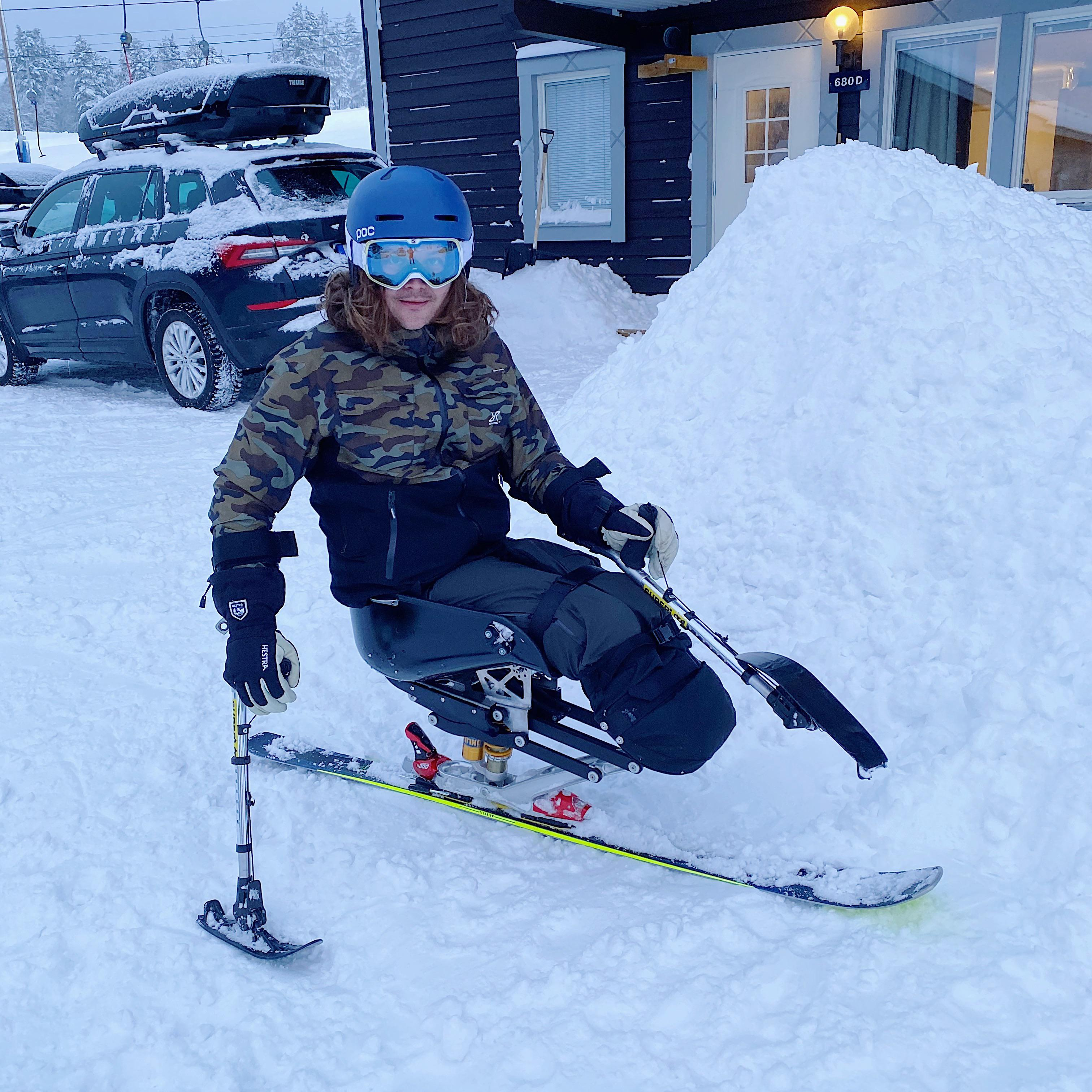 [image]   A few years back I was devastated the I couldn't ski anymore. Now I'm able to ski better than I ever had thanks to some cool tech, a new mindset and determination. Never ever give up.