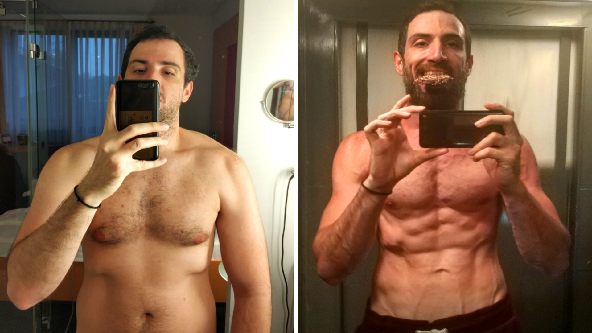 [Image] Hello Reddit, 2021 just started so I would like to share with you my transformation during the previous year, I hope to motivate others to follow their goals.