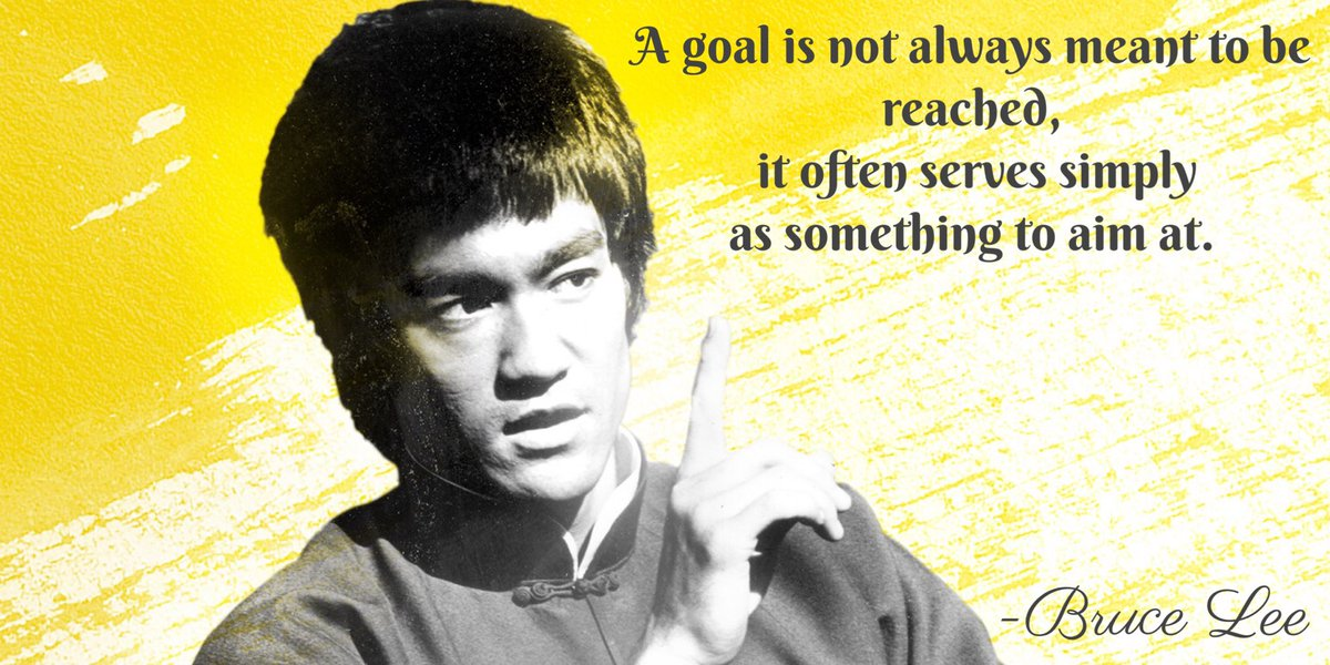 [Image] A goal is not always meant to be reached, it often serves simply as something to aim at.