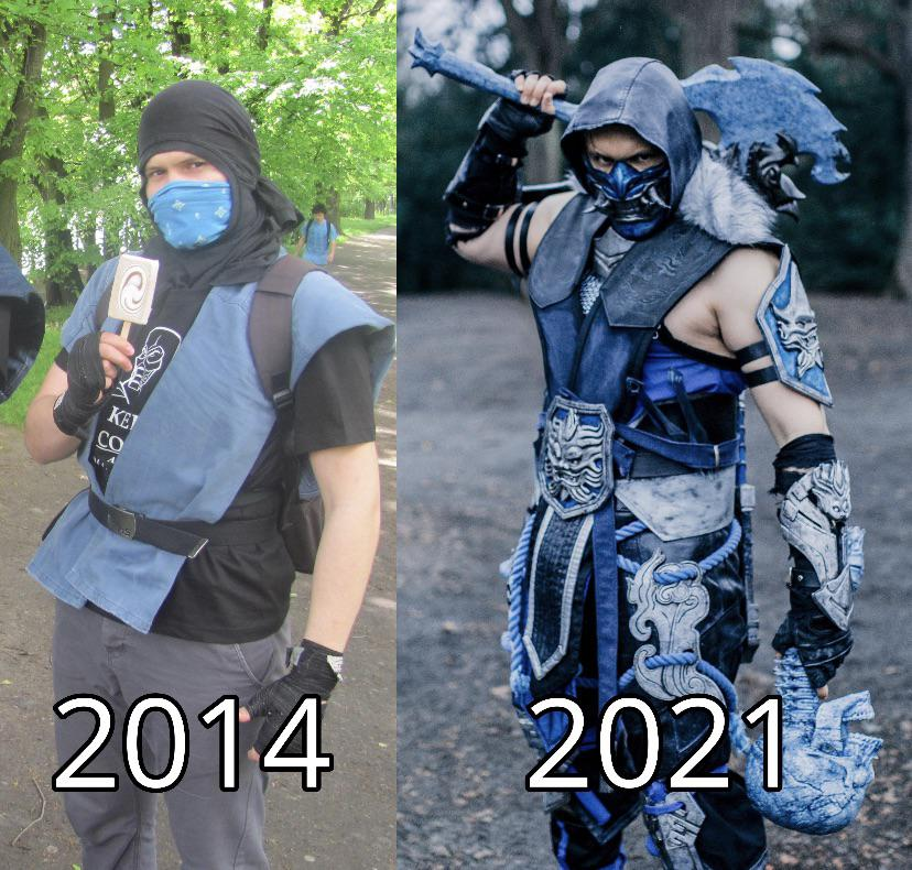 Incase you have not seen/missed it. This one dude's insane progress on his Sub-Zero cosplay. He did not stop doing what he loved. [Image]