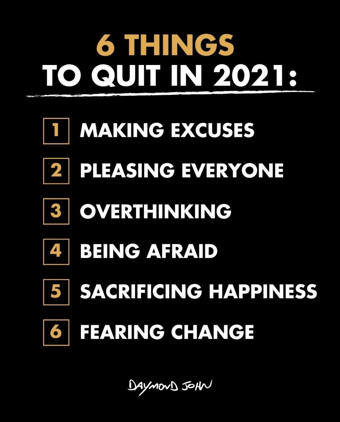 [Image] 6 Things to Quit