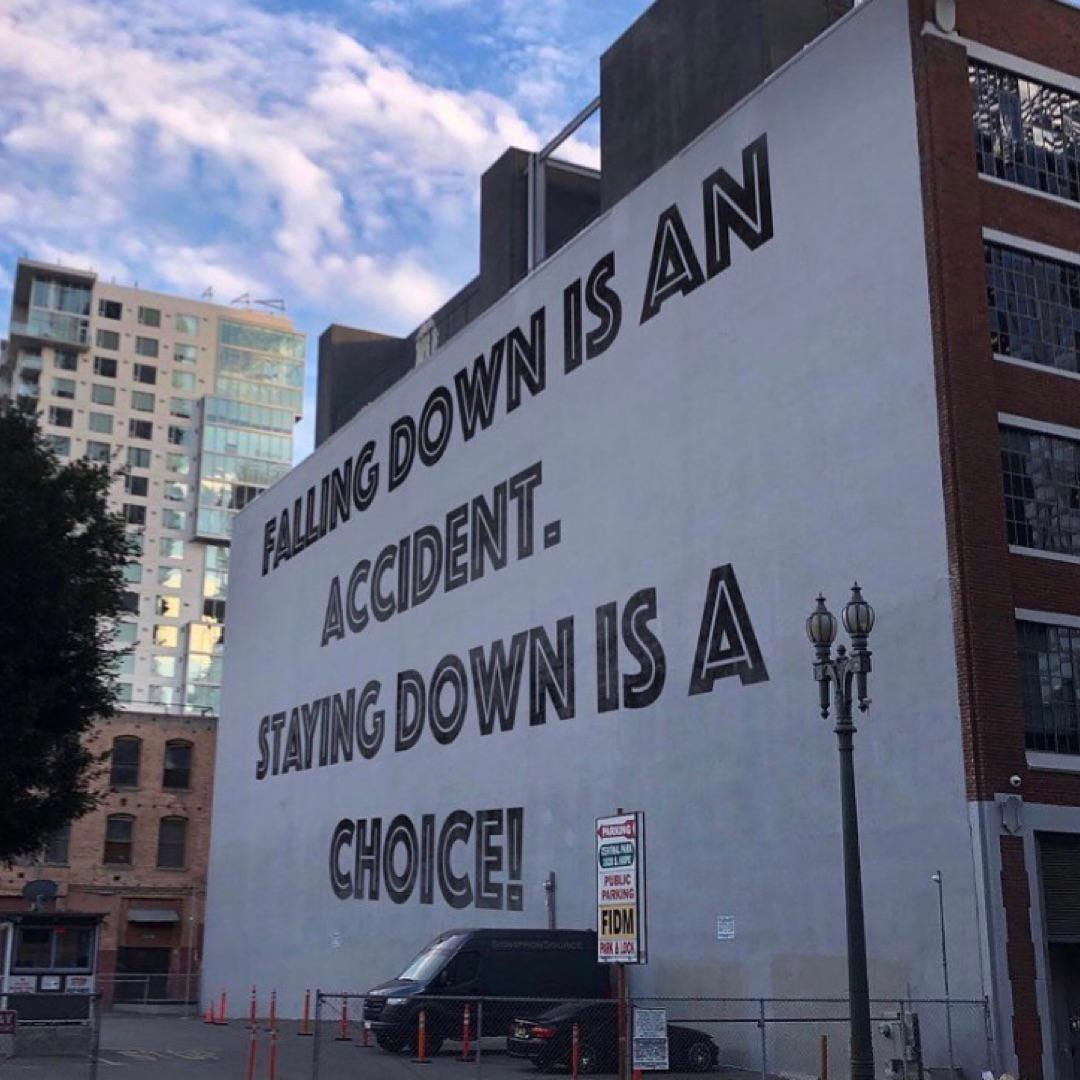 """Falling down is an accident. Staying down is a choice."" – Rosemary Nonny Knight [1080×1080]"