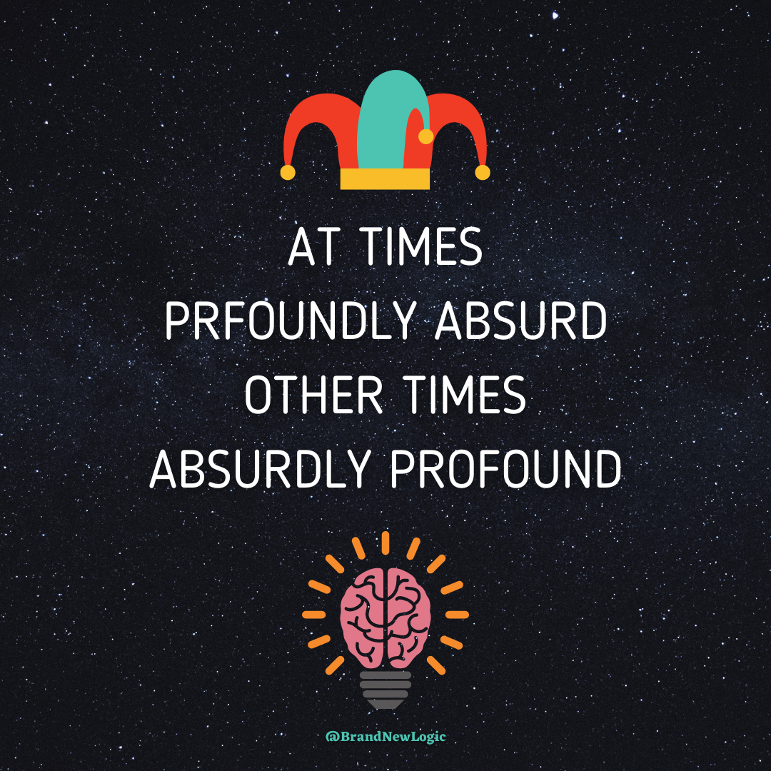 """at times profoundly absurd other times absurdly profound"" – Lex Fridman [1080×1080]"