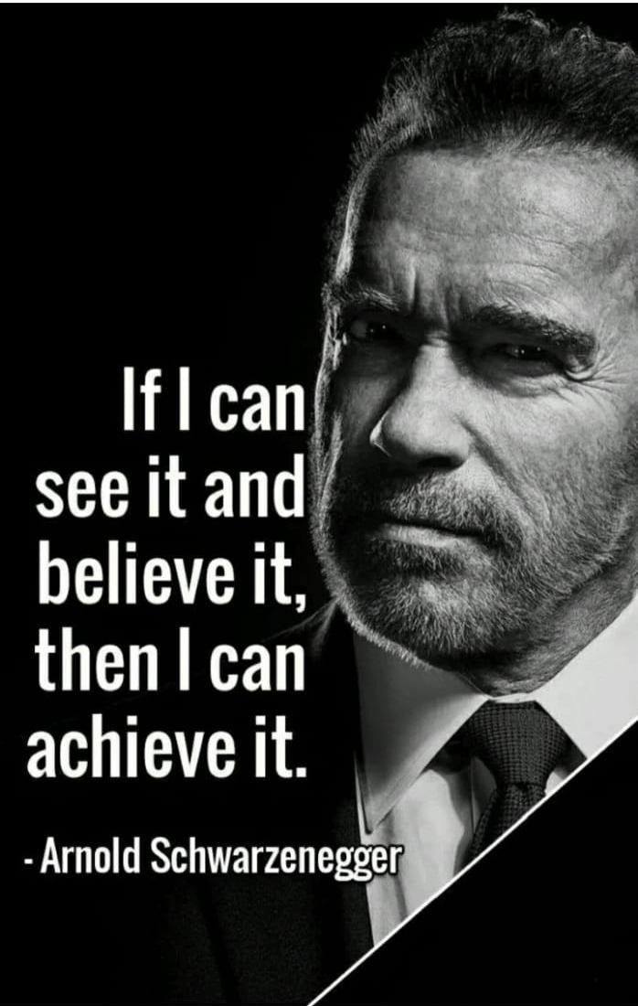 [Image] If it's good enough for Arnold, it's good enough for me…