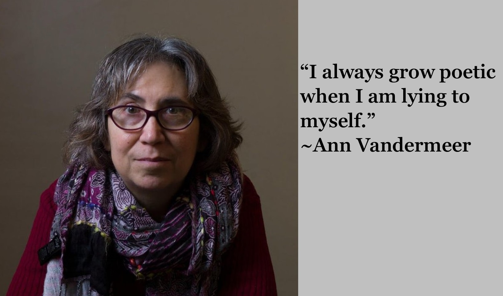 """I always grow poetic when I am lying to myself."" ~Ann Vandermeer [1633 x 931] [OC]"