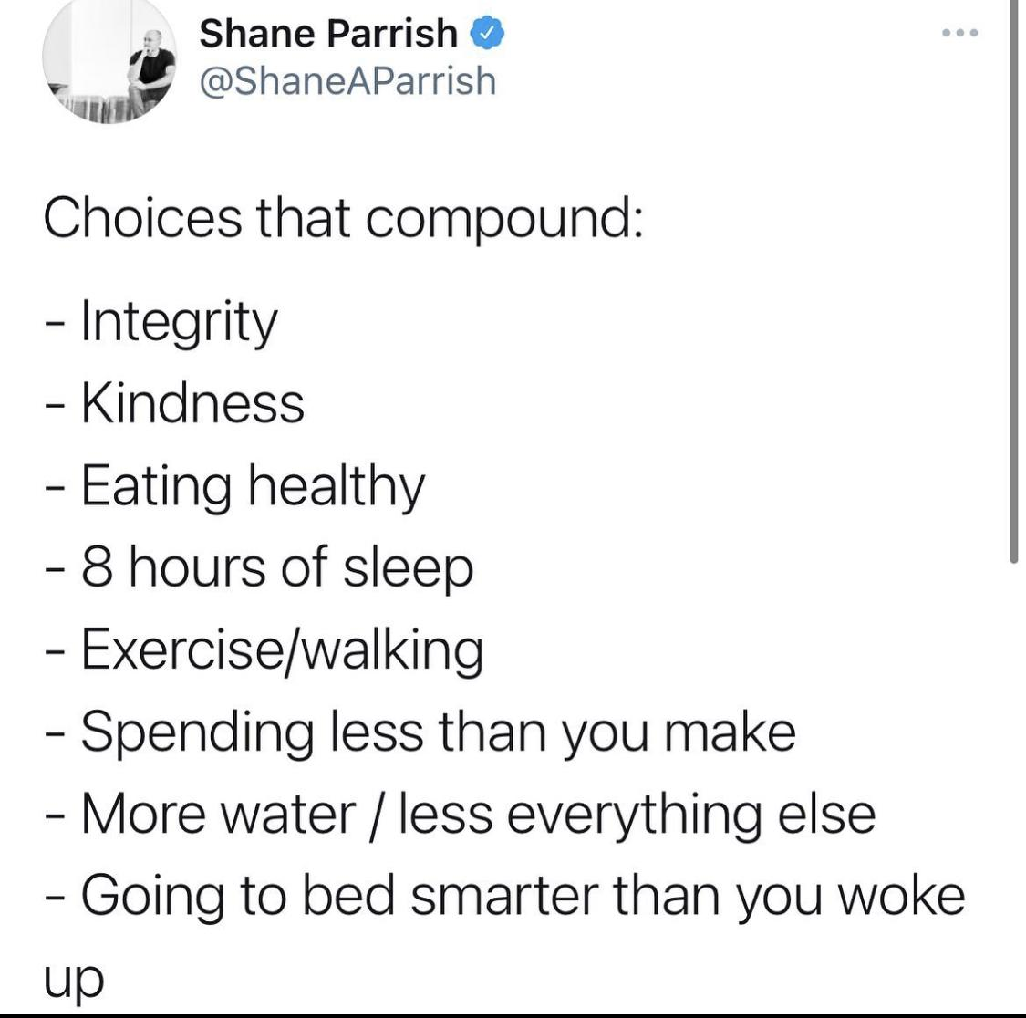 [Image] Daily Choices that compound