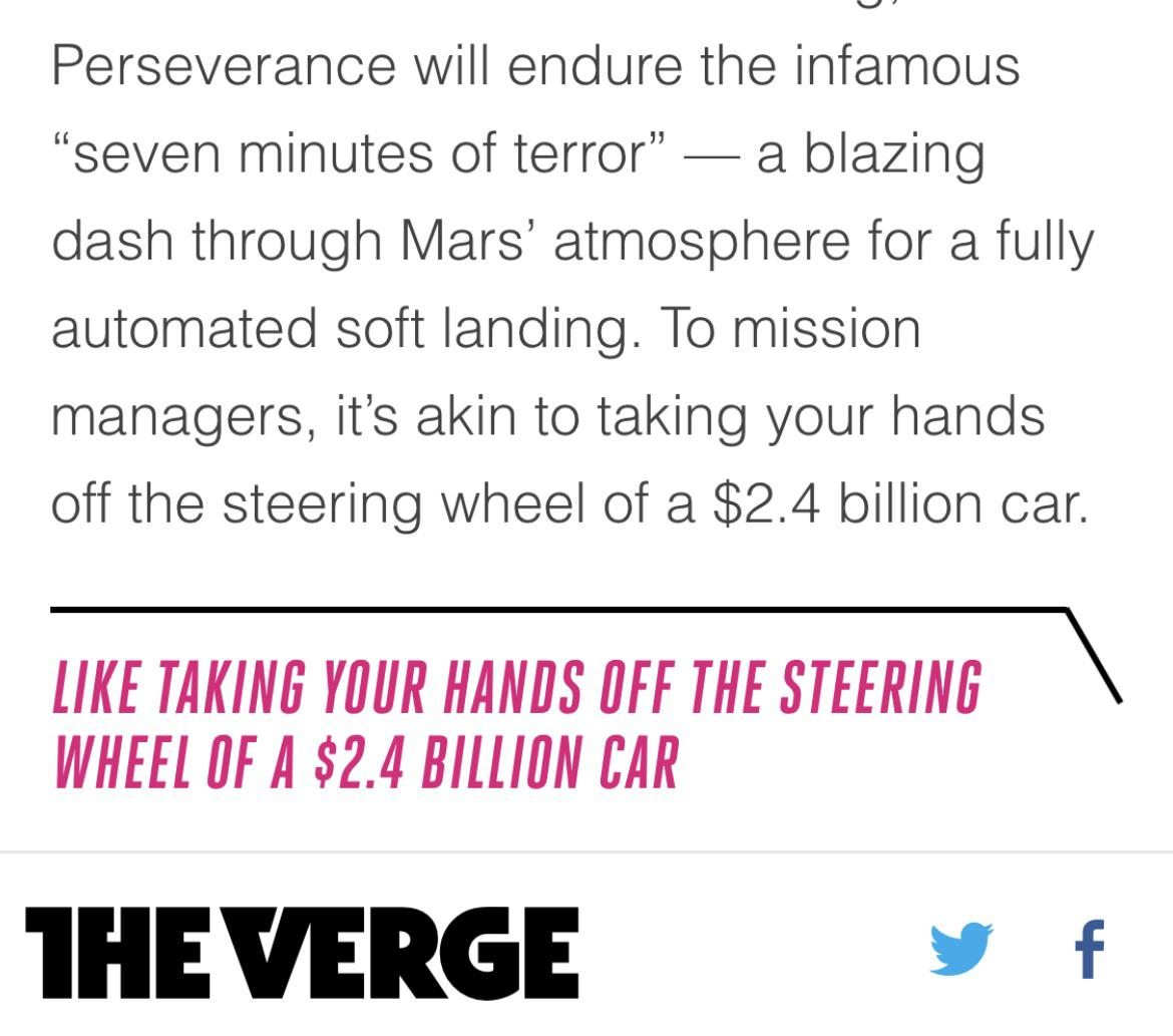 To mission managers, it's akin to taking your hands off the steering wheel of a $2.4 billion car