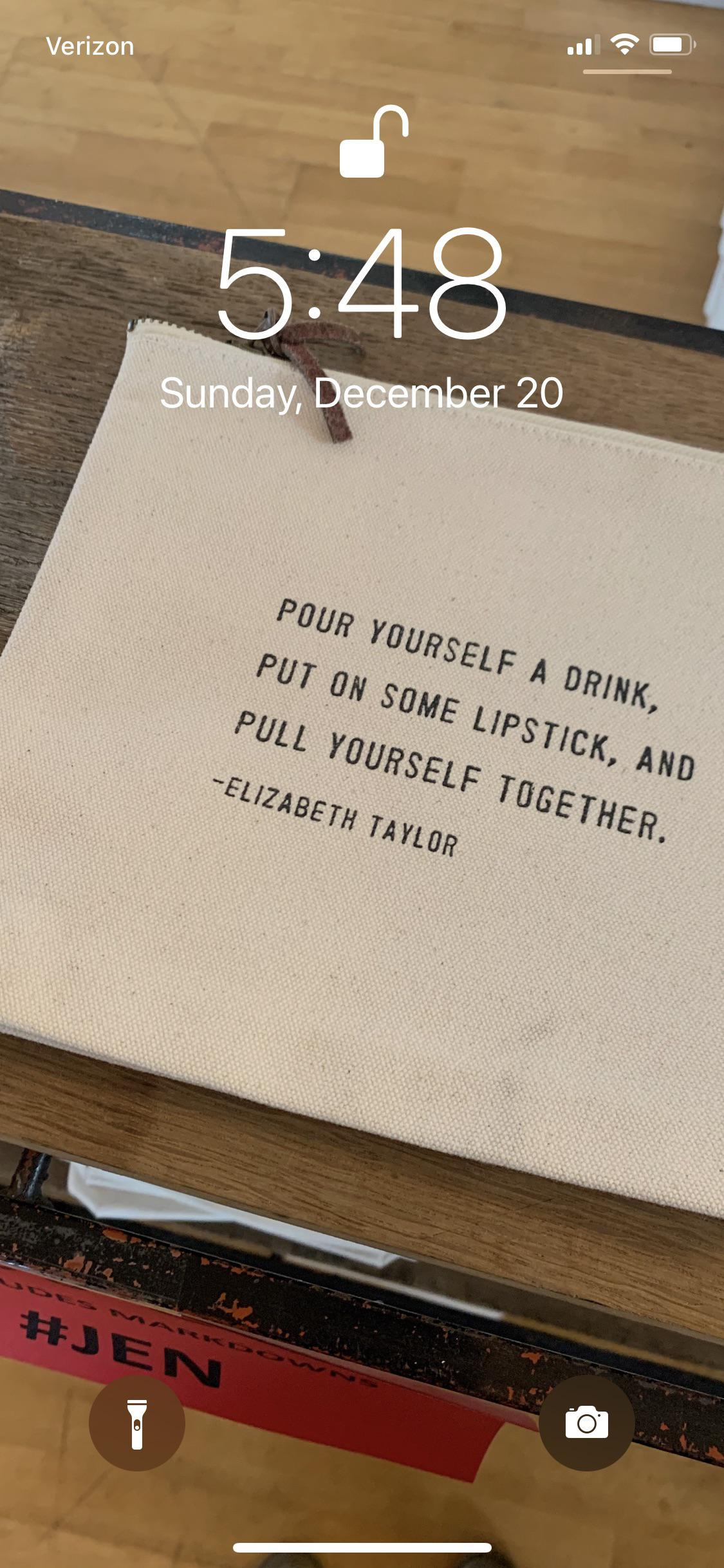 """Pour yourself a drink, put on some lipstick, and pull yourself together."" ~Elizabeth Taylor [3024 x 4032]"