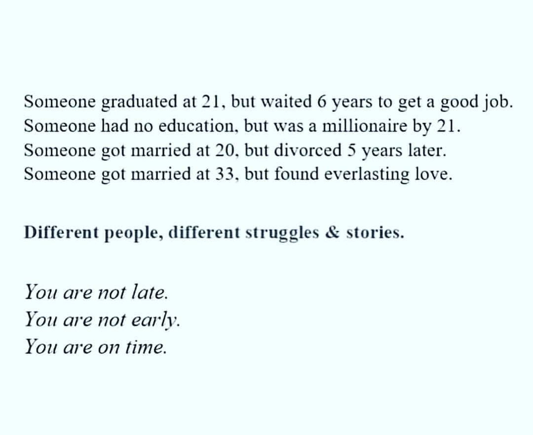 [Image] You are on time