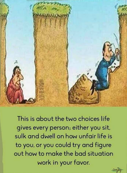 [Image] The 2 choices…figure out a way