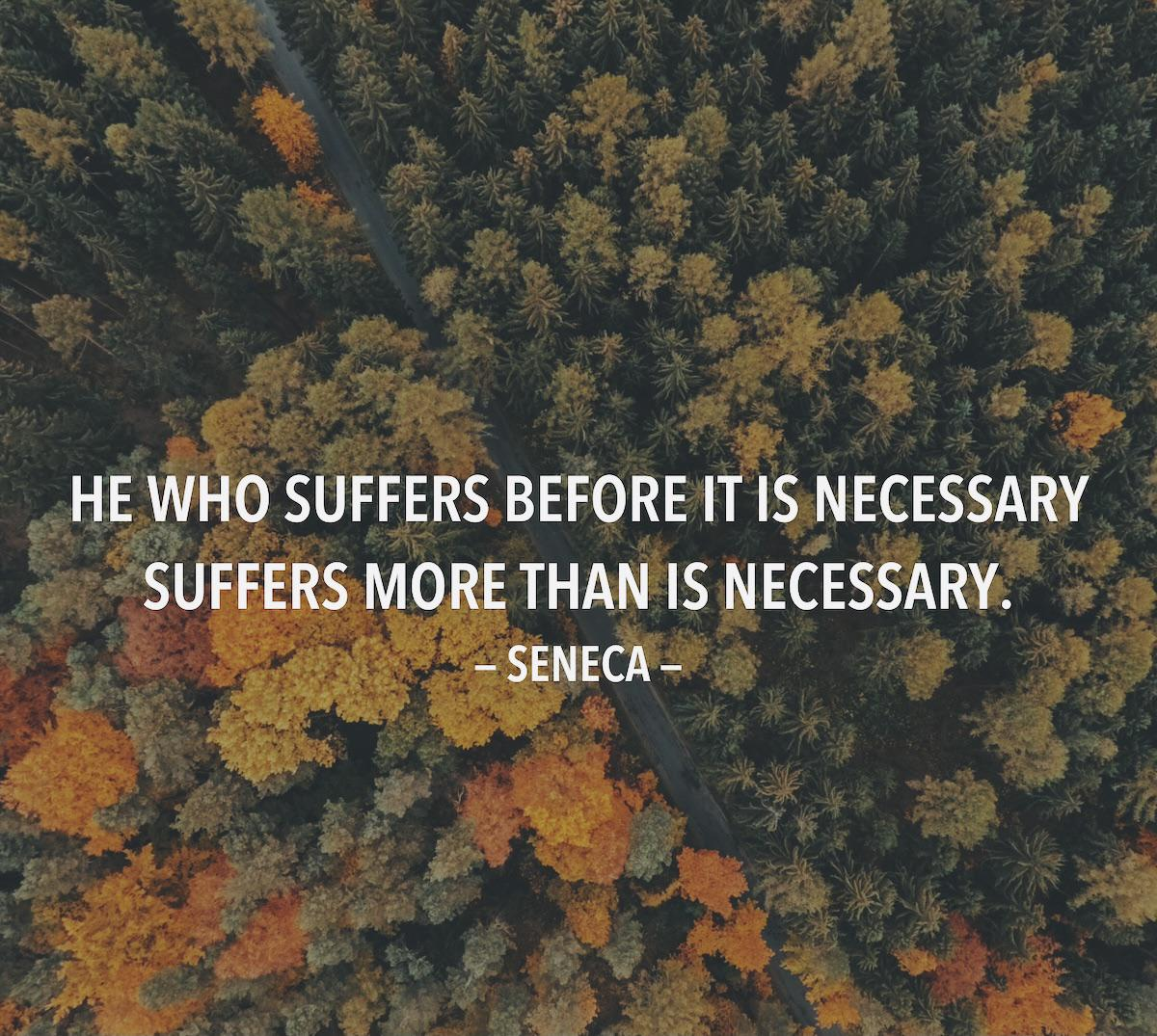 A quote by Seneca. [1080×1080]