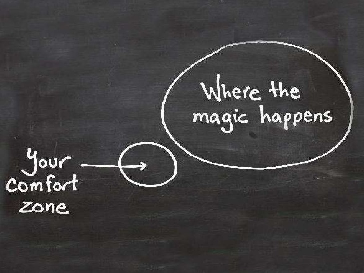 [Image] The bigger your comfort zone, the smaller your life. Step out of your comfort zone.