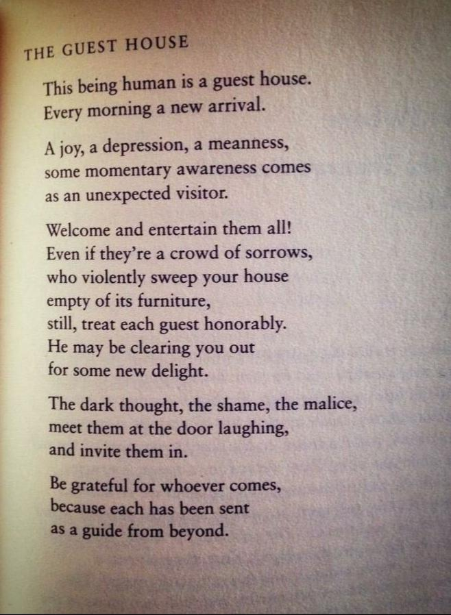 [Image] The Guest House by Rumi.