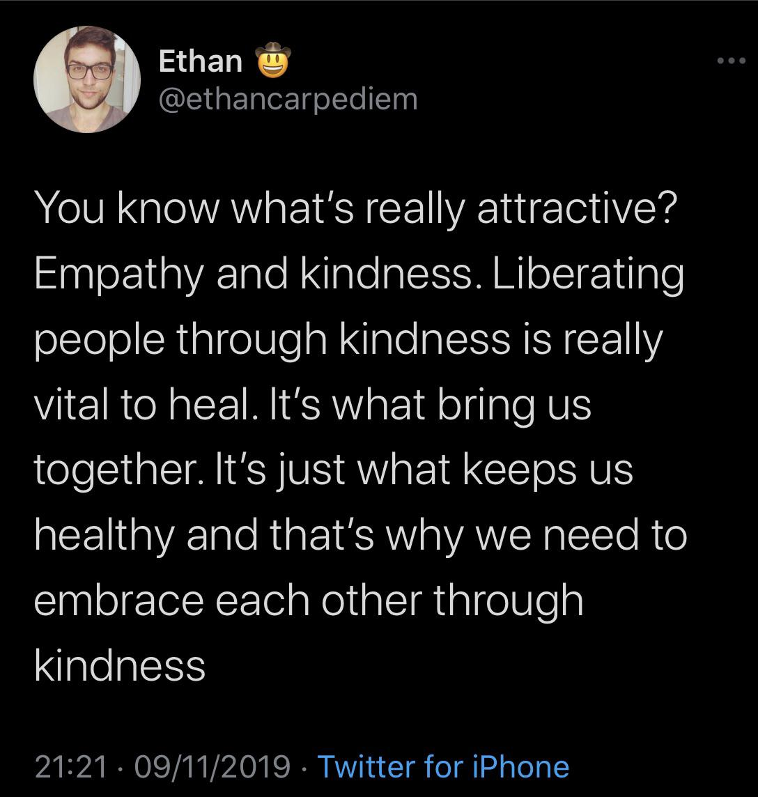 [Image] Kindness is more attractive