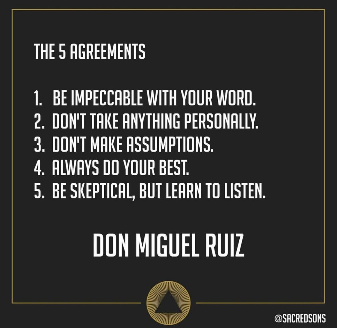 [Image] The 5 Agreements